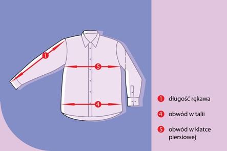 f8bec4bd6f2df9 Długość koszuli - mierzona jest na plecach wzdłuż linii kręgosłupa od  dolnej linii wszycia kołnierzyka