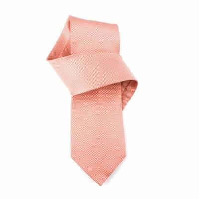 Jedwabny krawat jasnoczerwony  Nº17