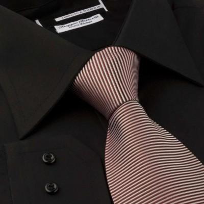 Koszula czarna Poplin Nero M03 N° 114