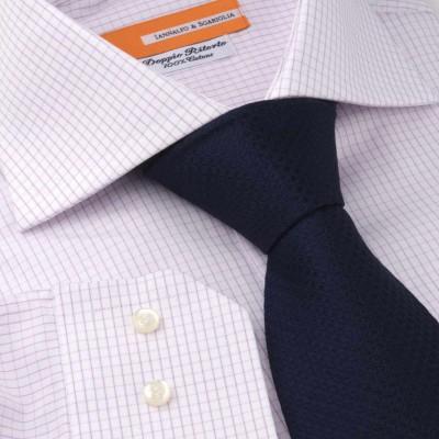 Koszula w kratkę Quadretti Rosa M21 N° 239/7 Slim-fit