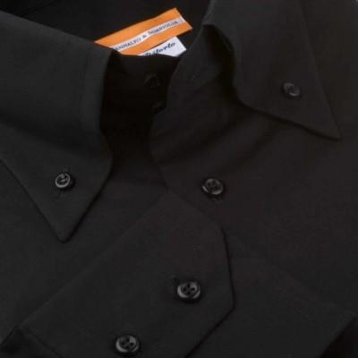 Koszula czarna Poplin Nero M07 N° 114 Slim-fit