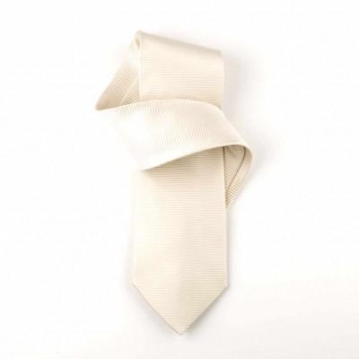 Jedwabny krawat kremowy Nº40