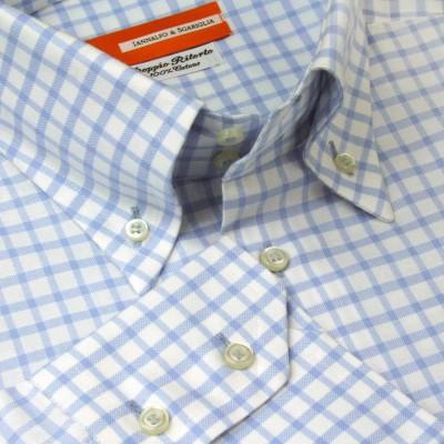 Koszula niebieska Quadretti Celeste M07 N° 504/2 Slim-Fit