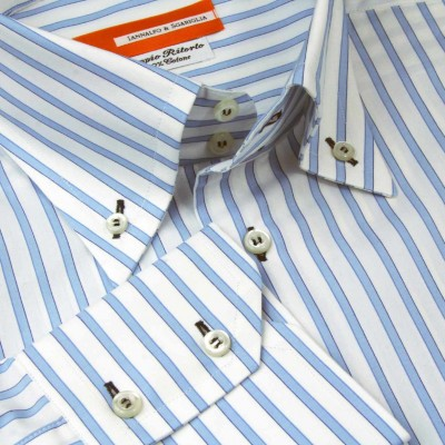 Koszula niebieska Rigato Celeste M07 N° 6424/1 Slim-Fit