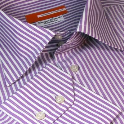 Koszula fioletowa Rigato Viola M06 N° 6525/5 Slim-Fit