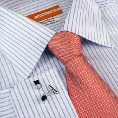 Koszula niebieska Quadretti Celeste M12 N° 218/4 Slim-Fit
