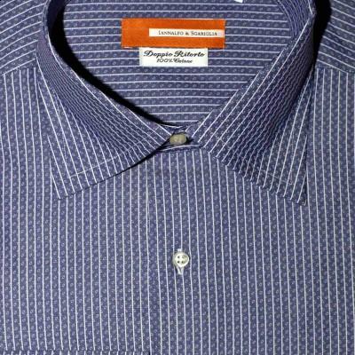 Koszula niebieska we wzorek slim-fit M06 nr 28