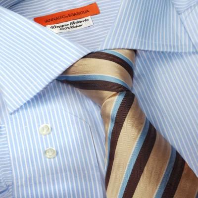 Koszula niebieska slim-fit Rigato Celeste M21 N° 5532