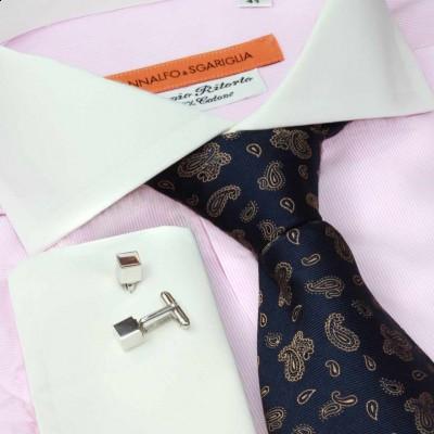 Koszula różowa slim-fit Rigato Rosa M24 N° 240/8