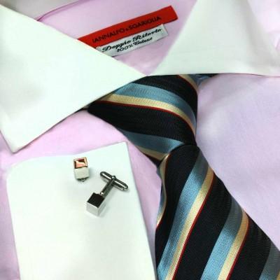 Koszula różowa slim-fit Rosa M24 N° 38/5