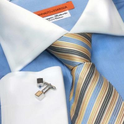 Koszula niebieska slim-fit Rapallo Celeste M21 N° 401/5001