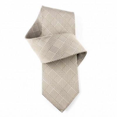 Jedwabny krawat popielaty Nº1