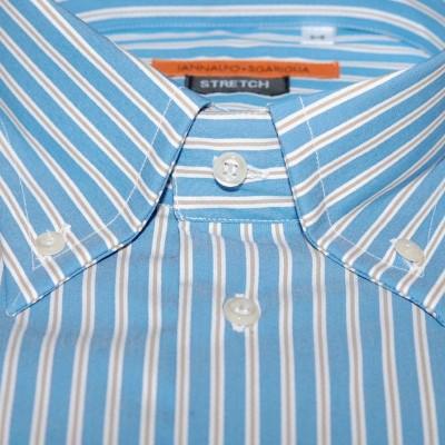 Koszula niebieska w paski slim-fit M07 nr 19
