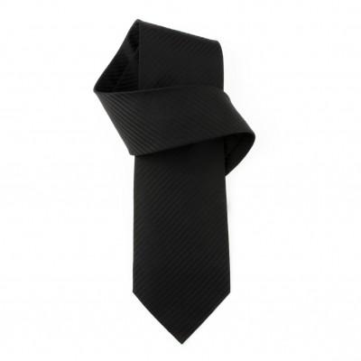 Jedwabny krawat czarny Nº10